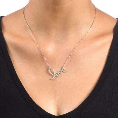 Collier Cubique Zirconium pendentif LOVE - 2