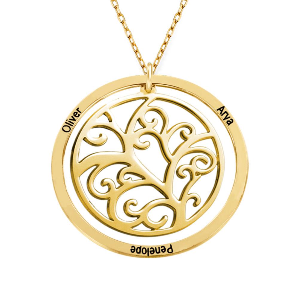 Collier arbre de vie avec pierres de naissance - Or jaune 10 carats - 2