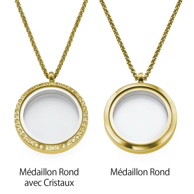 Médaillon pendentif gravé – pour Maman ou Grand-mère en plaqué or - 2