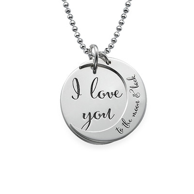 "Collier Déclaration ""I Love You to the Moon and Back"" en Argent"