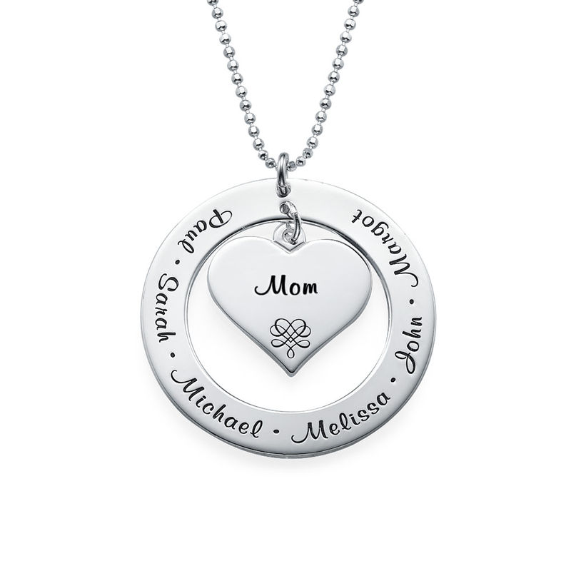 Collier grand-mère ou maman en or blanc 10 carats - 2