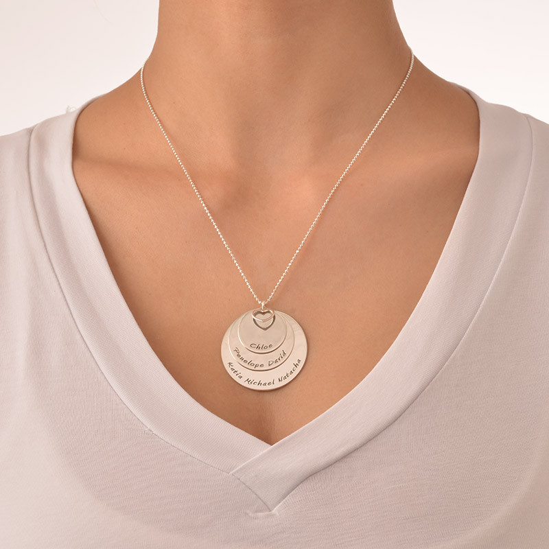 Collier Maman 3 disques personnalisables - 2
