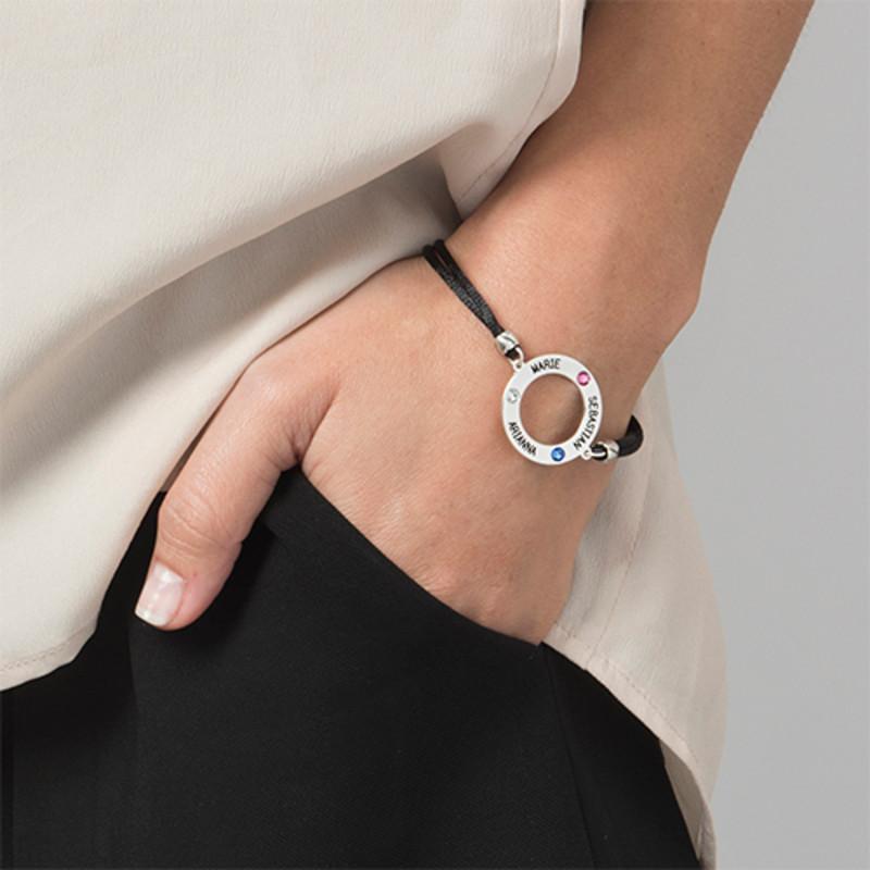 Bracelet Cercle Personnalisé avec Pierres de Naissance - 3