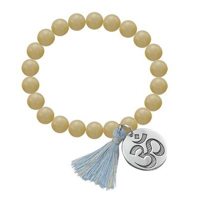 Bracelet Yoga - Bracelet de Perles Om Personnalisé