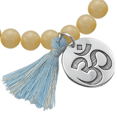 Bracelet Yoga - Bracelet de Perles Om Personnalisé - 1