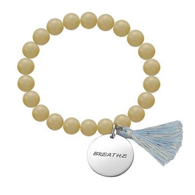 Bracelet Yoga - Bracelet de Perles Om Personnalisé - 2