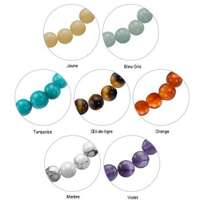 Bracelet Yoga - Bracelet de Perles Om Personnalisé - 4