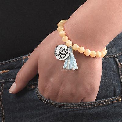 Bracelet Yoga - Bracelet de Perles Om Personnalisé - 5