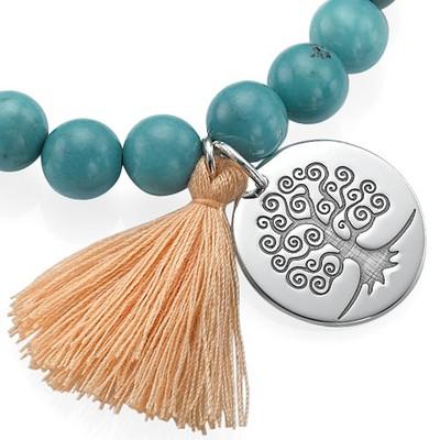 Collection Yoga – Bracelet de Perles Gravé Arbre de vie - 1