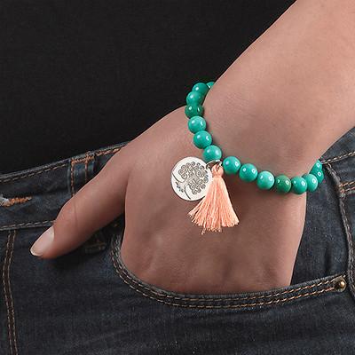 Collection Yoga – Bracelet de Perles Gravé Arbre de vie - 5