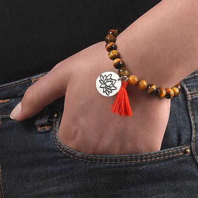 Bracelet Yoga- Bracelet de Perles Fleur de Lotus - 5