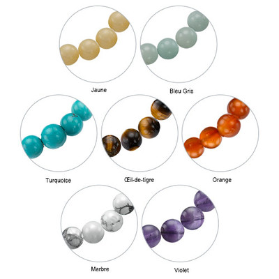Bracelet Yoga - Bracelet Bracelet de Perles Pendentif Elephant - 4