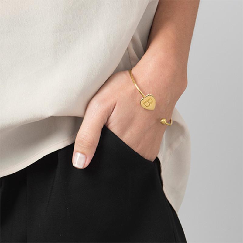 Bracelet Jonc Personnalisé Plaqué Or - Ajustable - 2