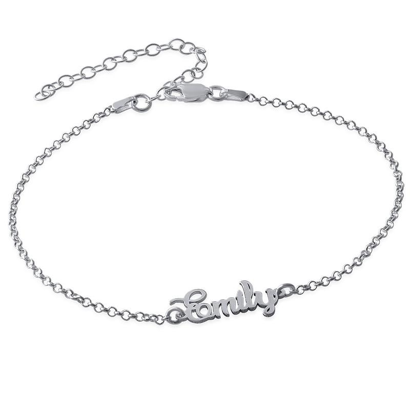 Bracelet de cheville avec prénom en argent