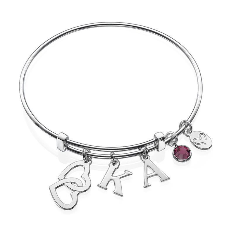 Bracelet Jonc « Cœurs Croisés »