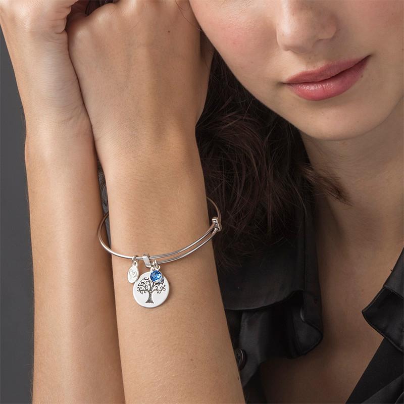 Bracelet Jonc avec pendentif Arbre de Vie - 3