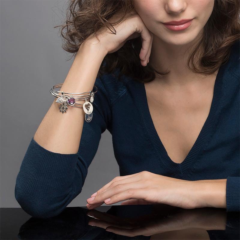 "Bracelet Jonc avec Charm ""Coeur"" - 2"