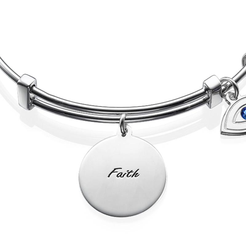 Bracelet Jonc avec pendentif Main de Fatma - 1