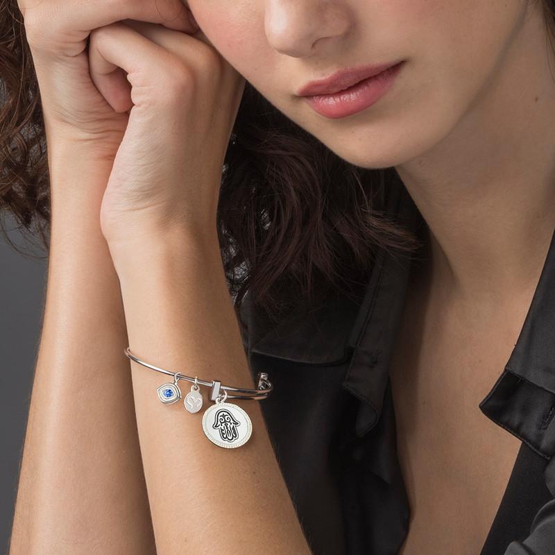 Bracelet Jonc avec pendentif Main de Fatma - 3