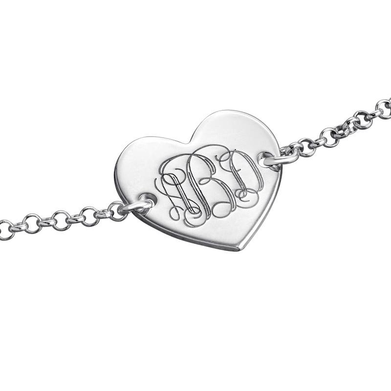 Bracelet Monogramme Cœur - 1