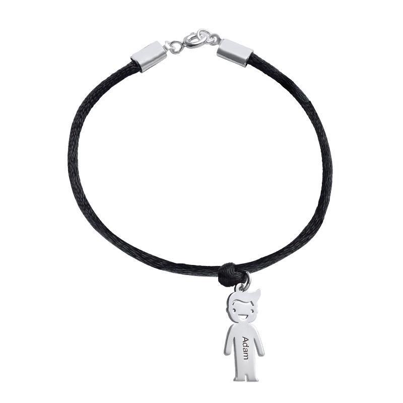 Bracelet avec Pendentif Enfant et Cordon satiné - 1