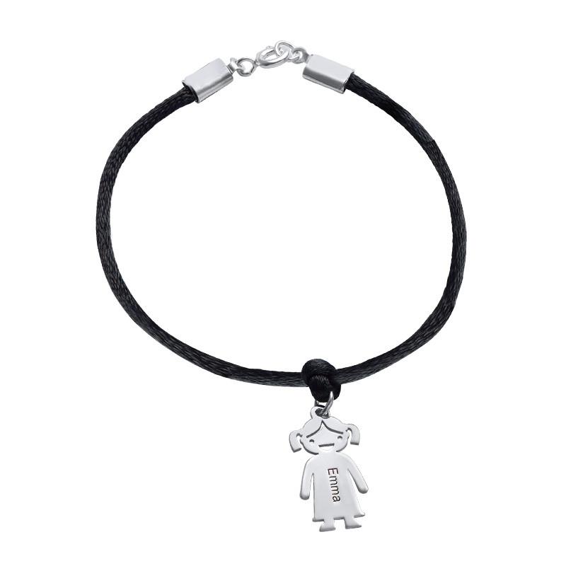 Bracelet avec Pendentif Enfant et Cordon satiné - 2
