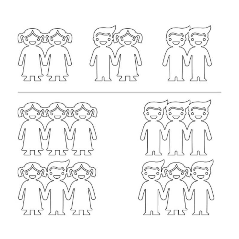 Bracelet cordon enfants se tenant par la main en Plaqué Or Rose - 2