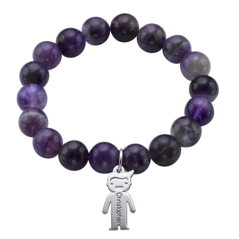 Bracelet de Perles avec Pendentif enfants - 1