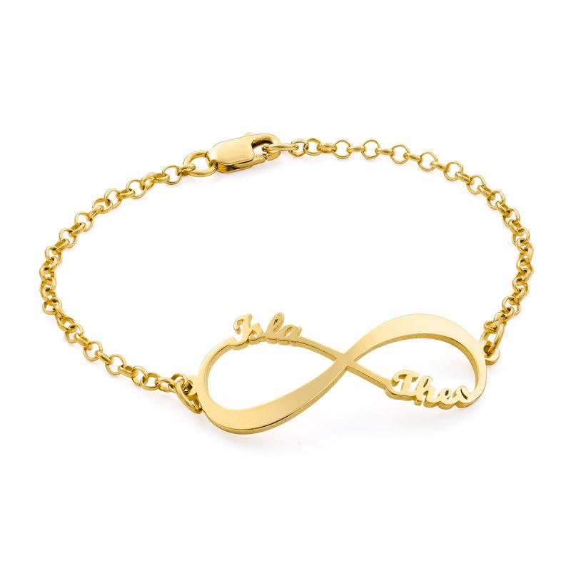 Bracelet Infini avec prénoms en Vermeil d'Or