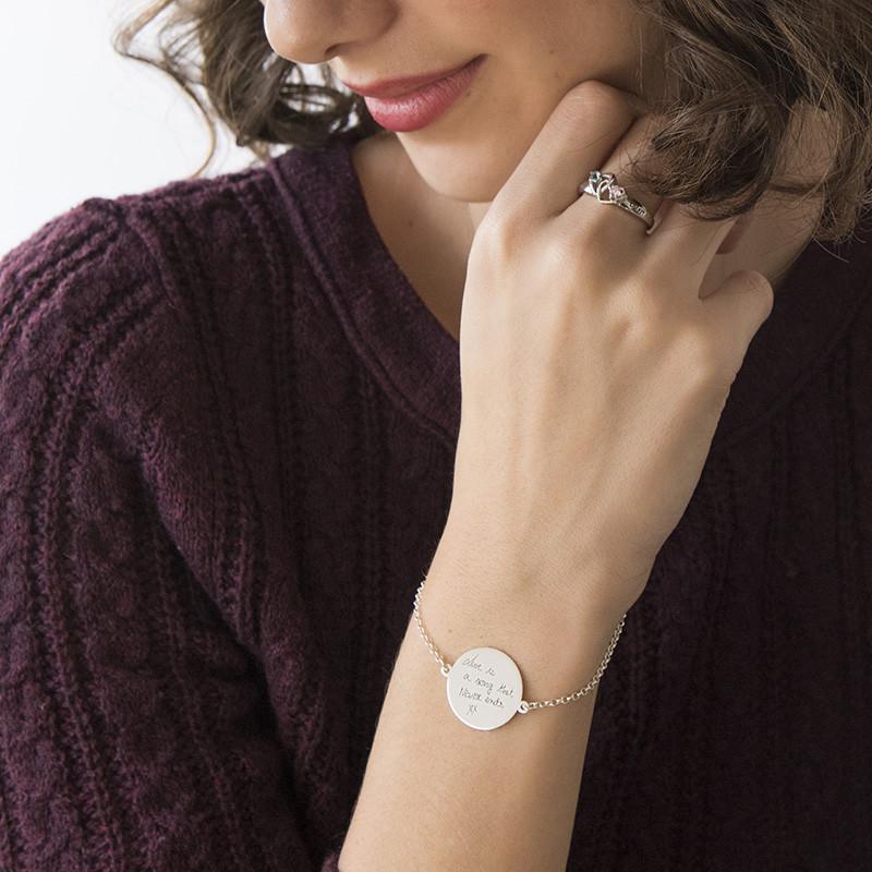 Bracelet Gravé à la main en forme de Disque - 2