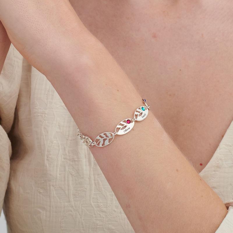 Bracelet de famille pour Maman Feuilles à graver - 2