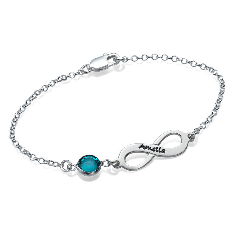 Bracelet de pierre de taille Infini