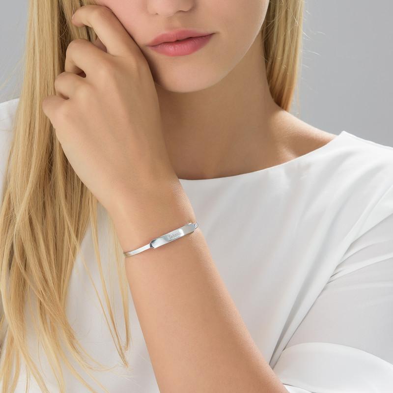 Bracelet Jonc prénom ouvert en argent - 1