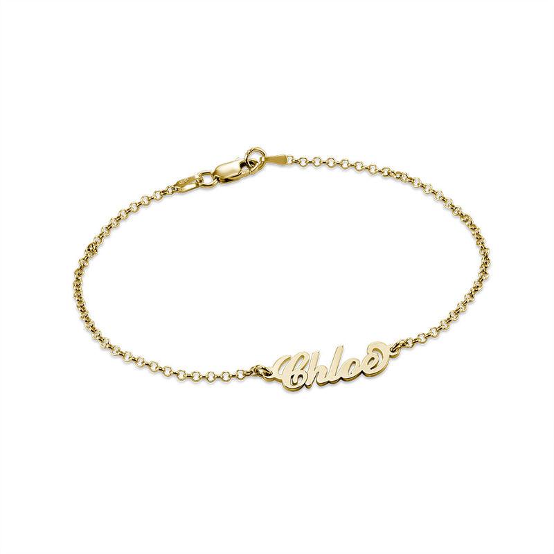 """Petit bracelet personnalisé style """"Carrie"""" en plaqué or 18 carats"""
