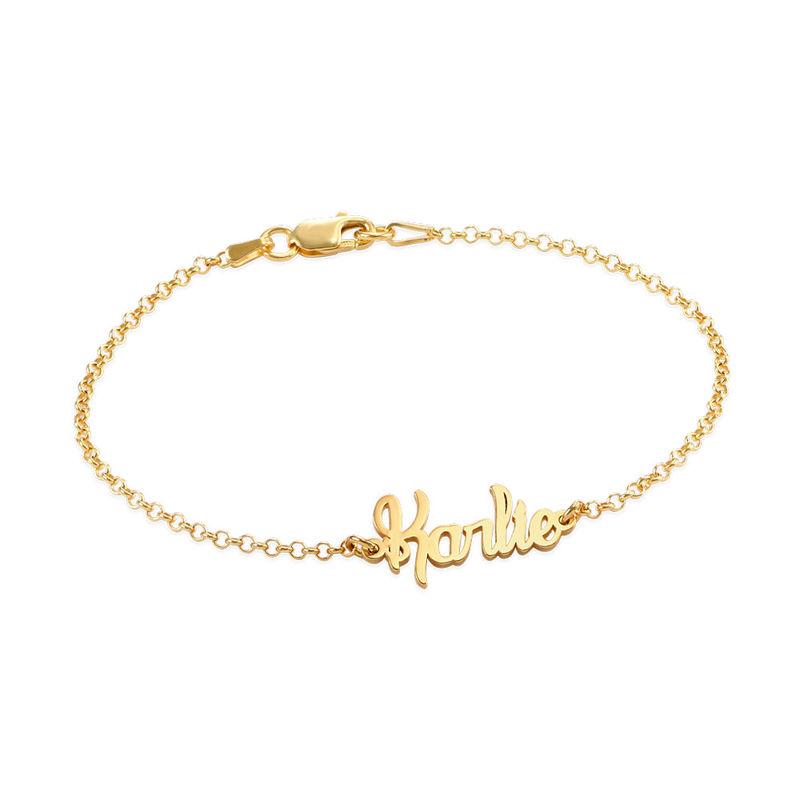 Petit bracelet prénom en plaqué or