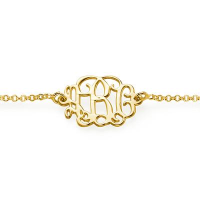 Bracelet / Chaine de cheville Arabesque Personnalisé plaqué or - 1