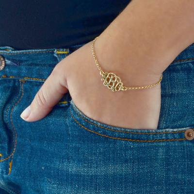 Bracelet / Chaine de cheville Arabesque Personnalisé plaqué or - 2