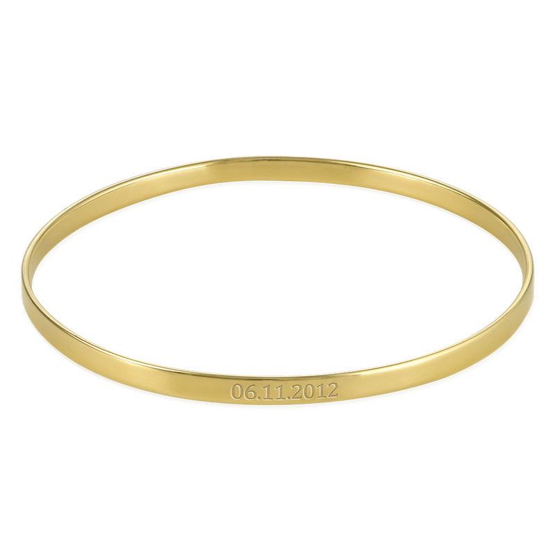 Bracelet Jonc Daté en Plaqué Or 18 Carats