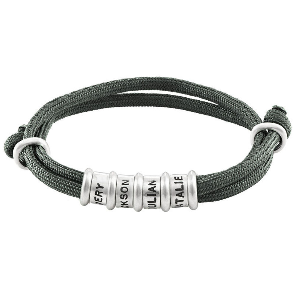 Bracelet homme Corde avec perles personnalisées - 1