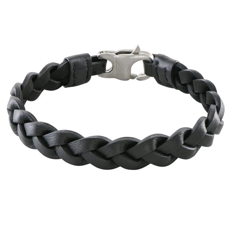 Bracelet cuir pour homme Corde Marine noire