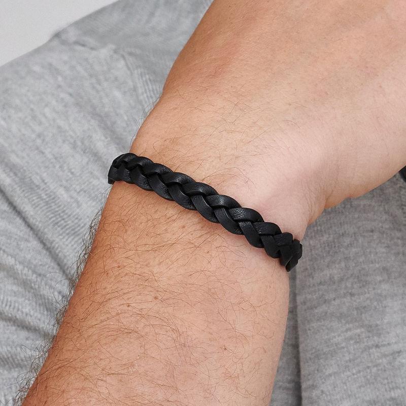 Bracelet cuir pour homme Corde Marine noire - 2