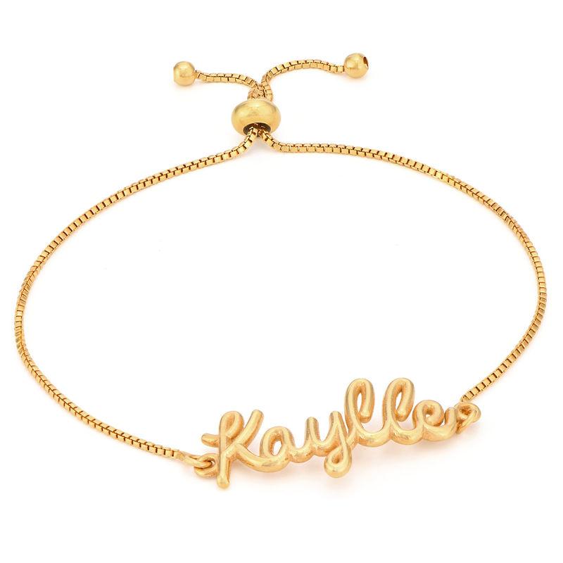 Bracelet prénom avec écriture cursive en Plaqué Or