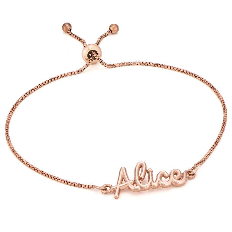Bracelet prénom avec écriture cursive en Plaqué Or Rose