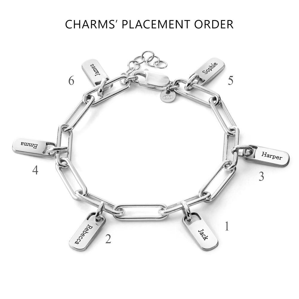 Bracelet Chaîne avec Charmes personnalisables en Argent massif - 3