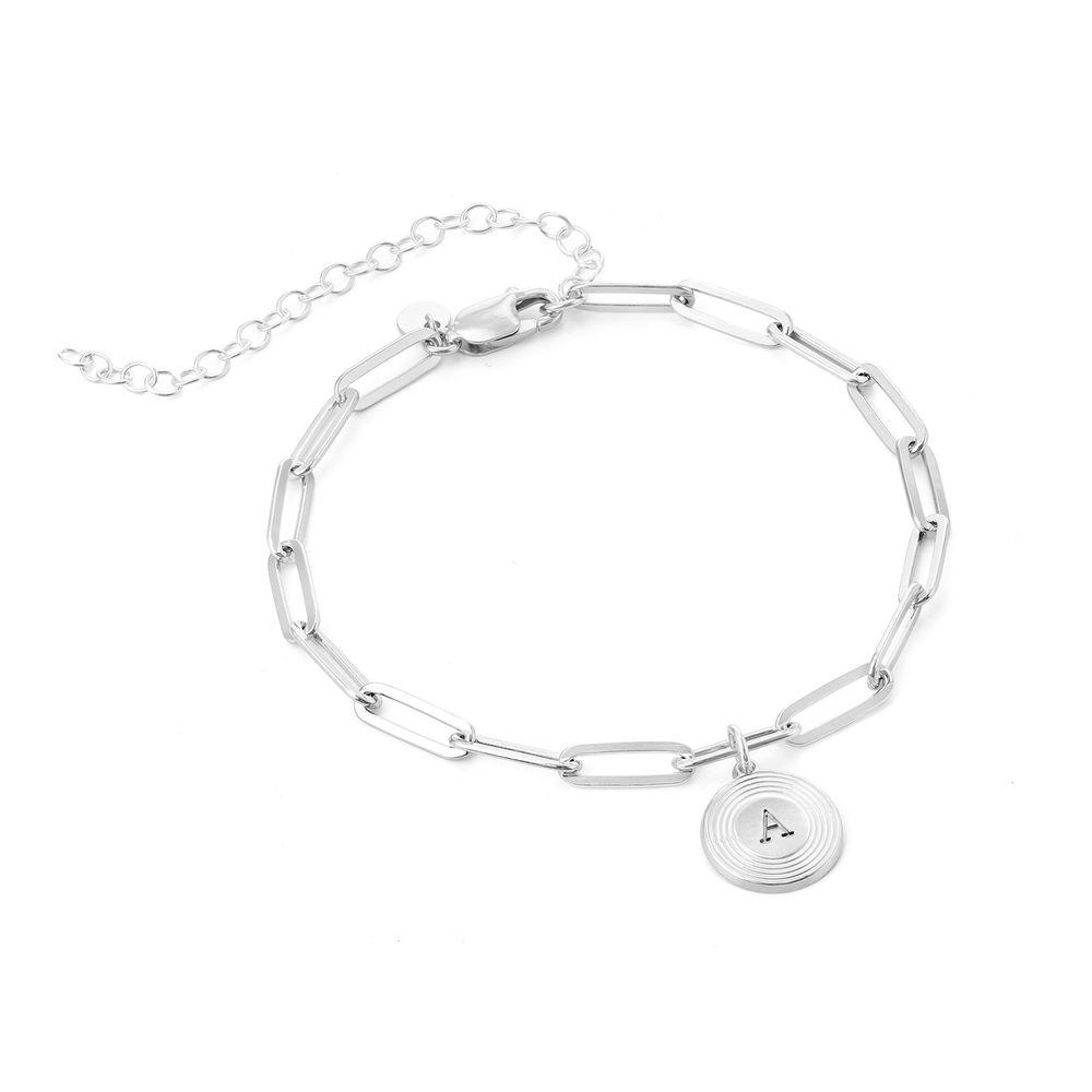 Bracelet Odeion chaîne avec Initiale en Argent