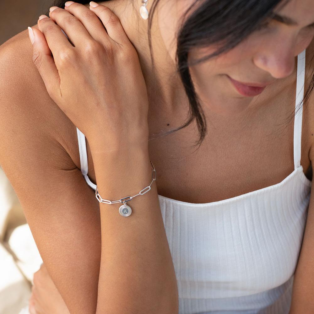 Bracelet Odeion chaîne avec Initiale en Argent - 1