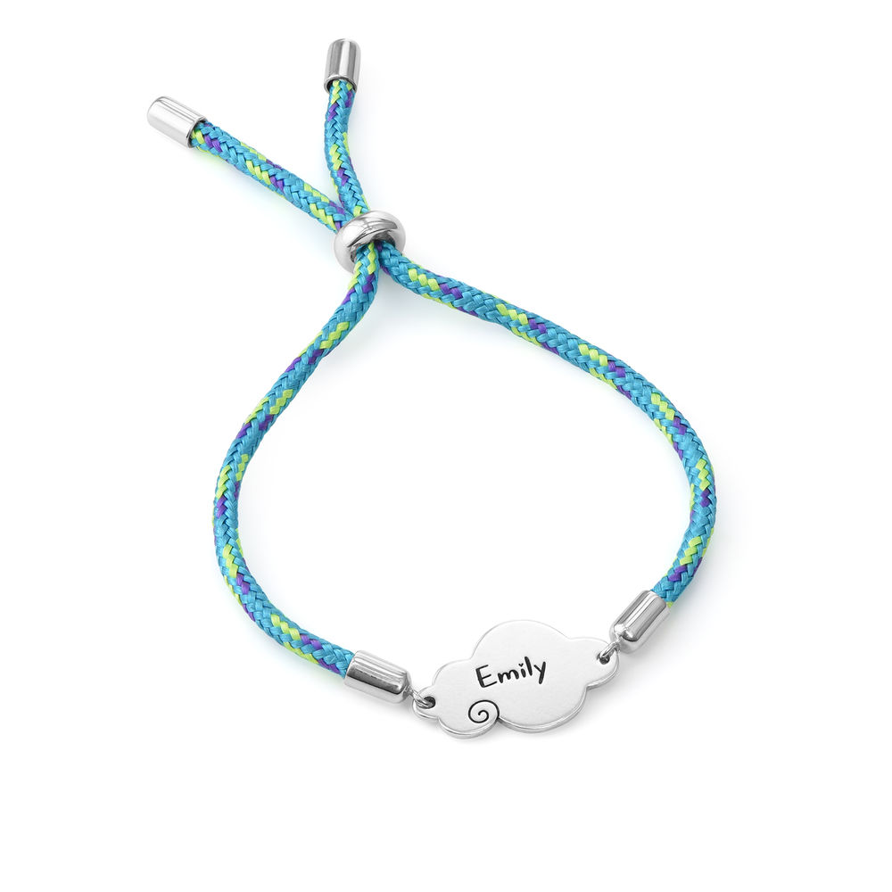 Bracelet cordon nuage en argent sterling - 2