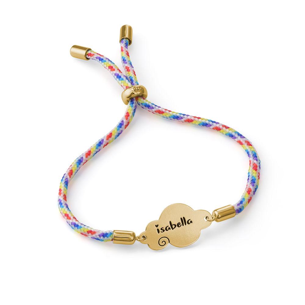 Bracelet cordon nuage en plaqué or