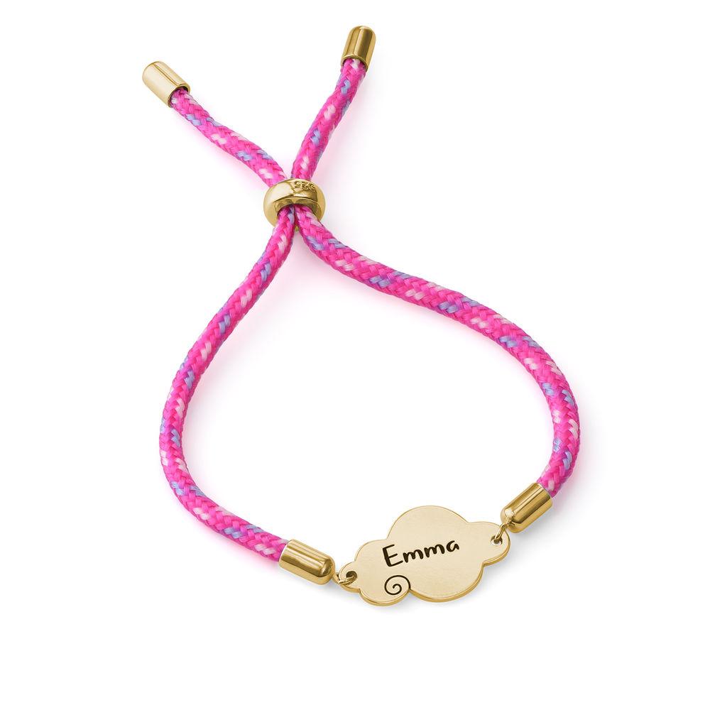 Bracelet cordon nuage en plaqué or - 1