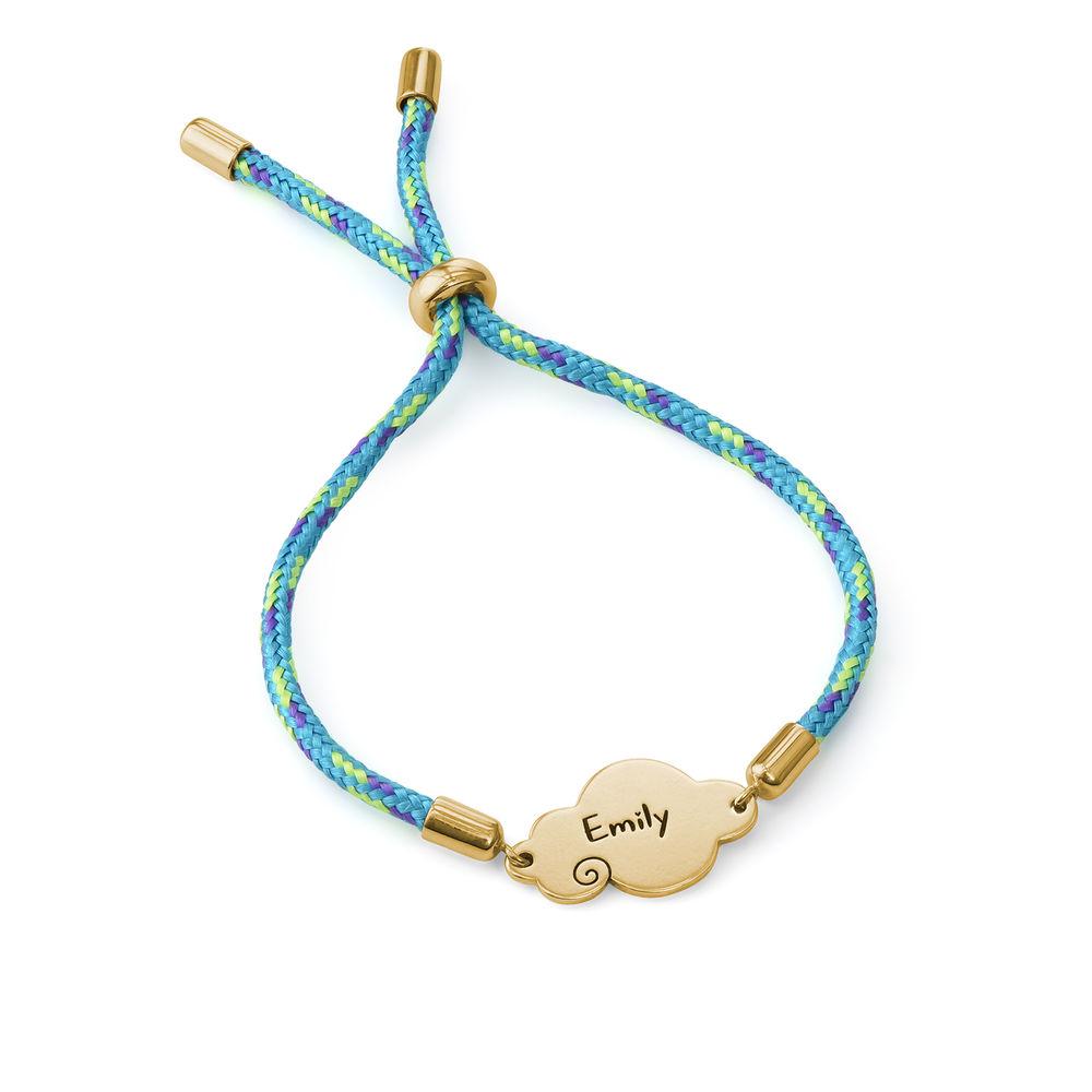 Bracelet cordon nuage en plaqué or - 2
